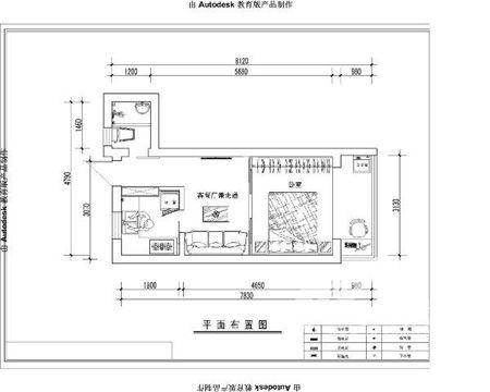 已设计好的平面图,希望装修出来的房子漂漂亮亮的!