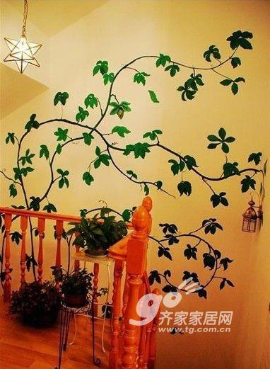 手绘墙涂鸦 阁楼铺地台 红色主打的2室1厅田园风(8)图片