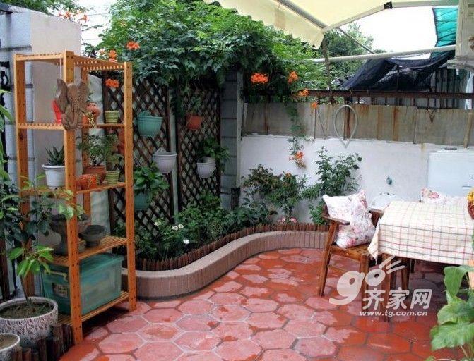 18平小院下午茶时光 53平米两室一厅田园风格家(全文)