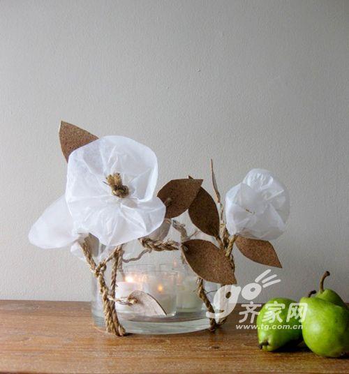 透明 玻璃杯/寒冬中的小温暖巧手DIY教你玻璃杯变烛台