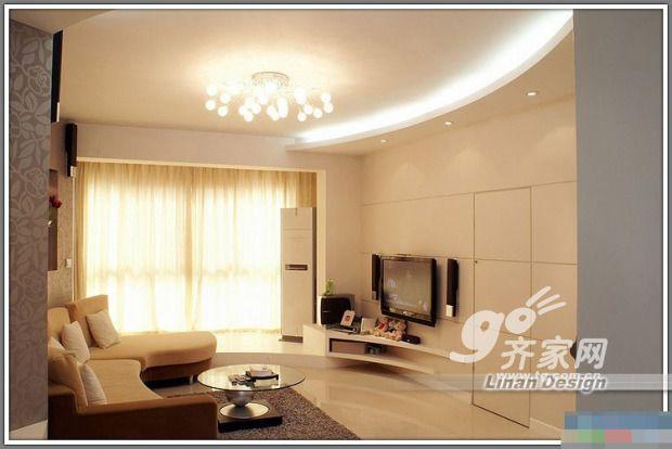 巧用客厅说明v客厅高端弧形护肤品包装设计吊顶图片