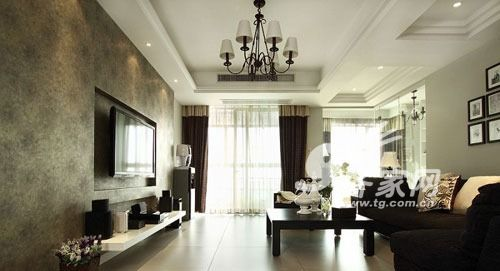 个性黑白配 30万打造130平美式简约三室二厅(8)