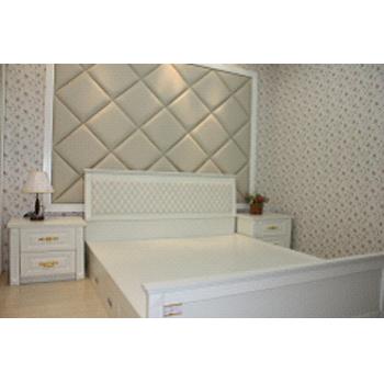 朗迈多丽移门衣柜欧式板床+床头柜图片