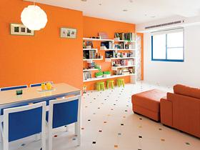 橙色家裝點亮生活 多彩多姿三居室