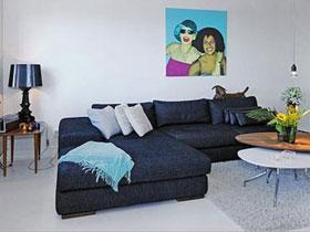 小户型经典黑白配 北欧一居室装修