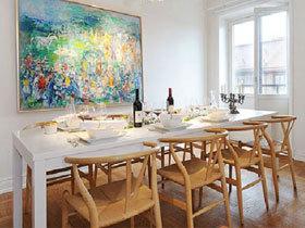 鲜艳插画白色家 北欧风温暖两室两厅