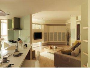 客廳斜切45度角 轉角讓生活更美好