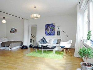 小户型全开放式设计 44平北欧白色一居