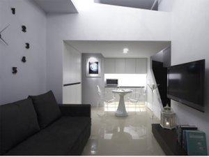时尚现代一居室 白净几何简约美学