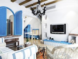 180平纯朴地中海家 完美四居室