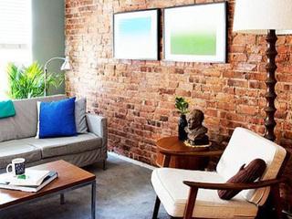 红砖墙设计 纽约混搭风别样公寓