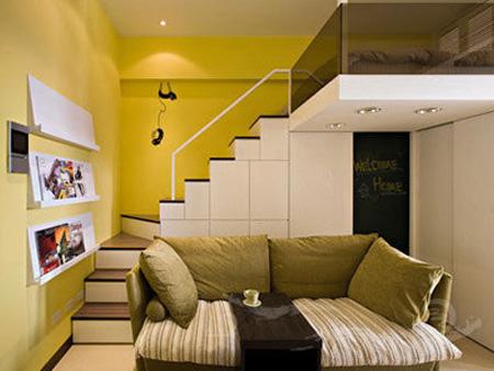 复式装修,欧式风格,公寓装修,50平米装修,40平米装修,5-10万装修,富裕