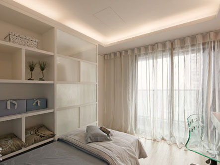 純凈無比 68平純白現代簡約溫馨居室