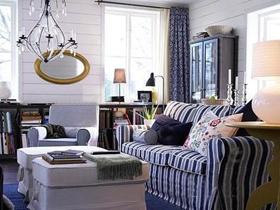 冬日的溫馨 深色時尚客廳樣板房