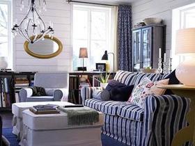 冬日的温馨 深色时尚客厅样板房