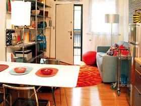 全方位装修 彩色混搭40平单身公寓
