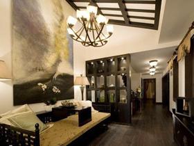 120平三室二厅装修经典中户型中式之家