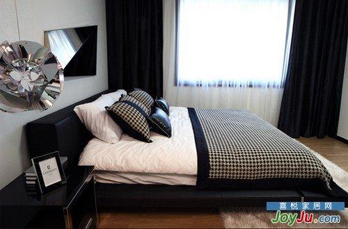 寝室的黑白配主概念
