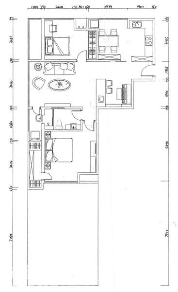 西式餐厅厨房设计90平简约美式婚房日本超小户型设计图片