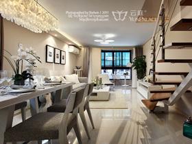 现代简约复式楼 舒适惬意典雅居