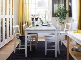 美观耐磨宜保养 北欧原木餐厅家具