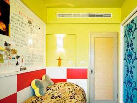 废物利用 田园风黄色温暖个性三居室