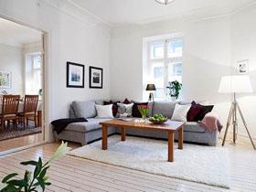 開放式空間 100平白灰系列北歐風公寓