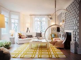 温暖如春 32个黄色系家居装饰方案