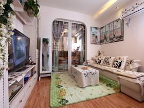 麻雀小五脏全 新晋小夫妻的现代时尚一居室