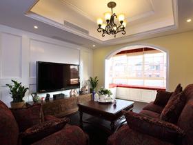 暖色硬装配巧克力色软搭 沉稳舒适别墅生活