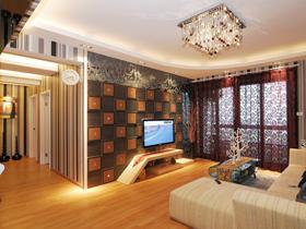 混搭风格三居室装修  温馨的家不需要很复杂