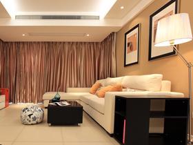 温馨时尚 暖色调简约两居室