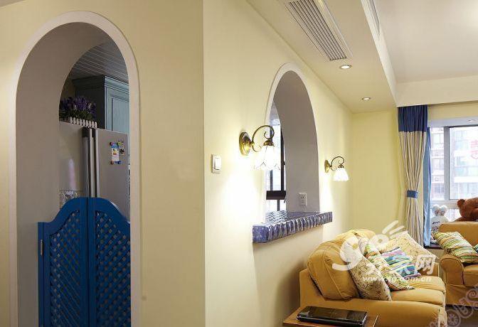 装修风格是温馨的地中海式,装修成本硬装 软装 家具家电一共21万元