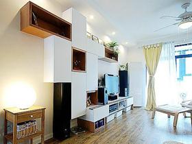 8万省钱巧装 78平时尚2居室的家