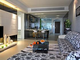 大气混搭二居室 温馨舒适色彩公寓