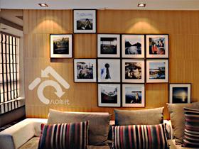 組合照片背景墻 89平現代公寓的小復古情懷