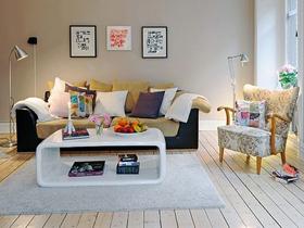 純粹干凈的白色公寓 現代摩登的完美搭配