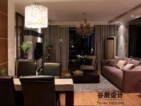 现代都市公寓 情迷巧克力色沉稳家