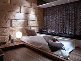 水晶簾隔斷 咖啡色歐式時尚公寓