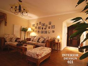 140平美式温馨浪漫三居室