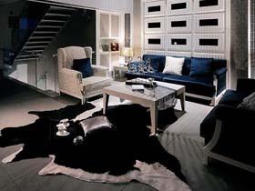 现代时尚风潮 冷酷十足男人公寓