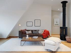 簡約北歐風 現代化閣樓公寓
