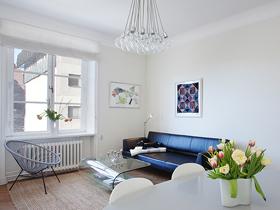 简约中发挥创意 北欧风白色两居室