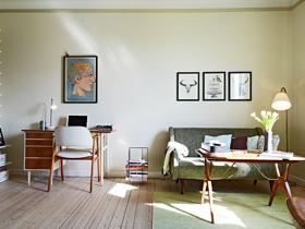 欧式简约风 40平米森林系单身公寓