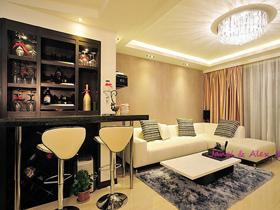 魅力四射 15款小戶型客廳吧臺設計