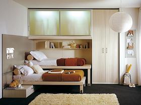 多彩双人儿童房 20款卧室组合式家具设计