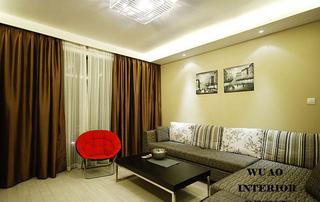 时尚元素 低调奢华的简约三居室