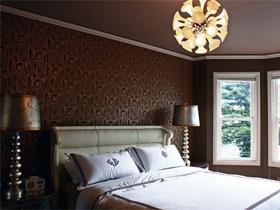 多彩缤纷背景墙 富裕型古典美三居