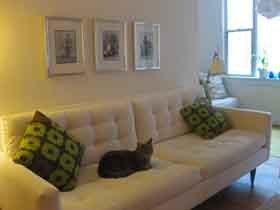 奶白色客厅设计 极致简约家