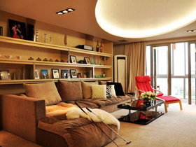 星空吊顶客厅 22万打造165平简约婚房